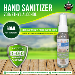 STC Barbershop / All Clean Natural - Hand Sanitizer Ad