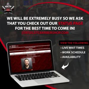 STC Barbershop - Live Waiting Times Ad