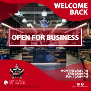 STC Barbershop - Post Lockdown Open Ad